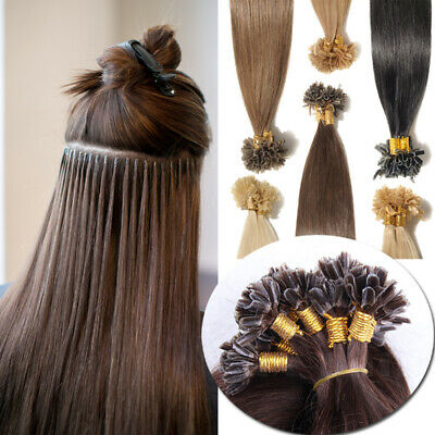 $25.55 • Buy CLEARANCE Nail U Tip Keratin Real Remy Human Hair Extensions Per Bonded Thick 1g