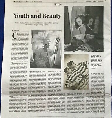 $3.95 • Buy Iconic Wall Street Journal Article CECIL BEATON 1920's Photographer YOUTH BEAUTY