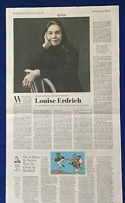 $3.95 • Buy Iconic Wall Street Journal Article LOUISE ERDRICH Author Native American 2020