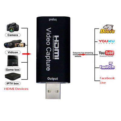 Mini Portable HDMI To USB Video Capture Card Recorder Box Game / Live Streaming • 8.93£