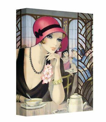 £22.50 • Buy Art Deco Flapper Lady Cafe Canvas Print Wall Art. Picture Framed Ready To Hang