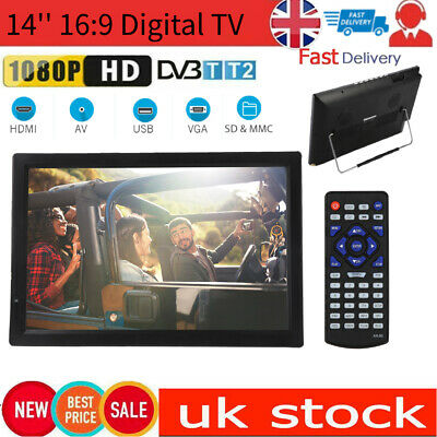 £110.99 • Buy LEADSTAR TV 14  1080P HD Portable Digital TV Freeview Digital Television Player