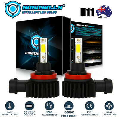 AU32.99 • Buy H11 H9 H8 LED 9600LM Car High/Low Beam Headlight Lamp Fog Light Bulb For Holden