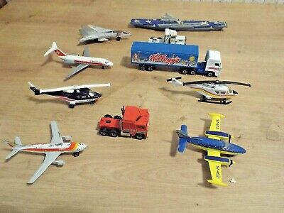 Matchbox Joblot Collection Of 9 Planes, Trucks & Boat SUPER COOL BUNDLE !!!! • 1.04£