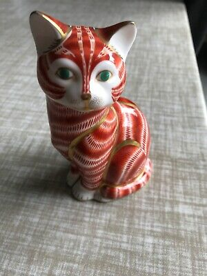 Royal Crown Derby Paperwight Cat • 12.50£
