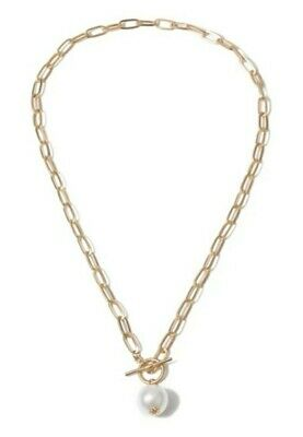 Gold Chain Faux Pearl Toggle Necklace Other Bloggers Stories  • 5.99£