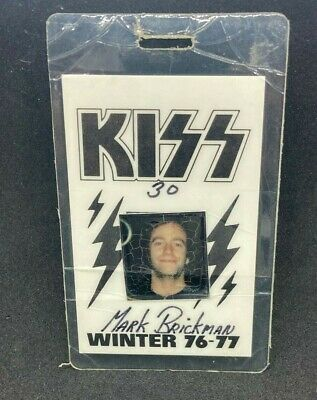 $31 • Buy Kiss Original Rare 1976-77 Laminated Crew Pass From Destroyer Tour