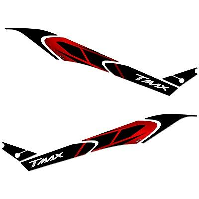 AU112.54 • Buy Stickers 3D Boomerang Side Compatible With YAMAHA Tmax 560 2020 Red