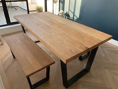 John Lewis Oak Calia Dining Table And 2 Matching Benches • 800£