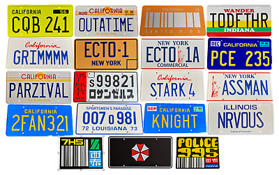 Movie And TV Prop License Plate Multi-listing OUTATIME, ECTO1, ECTO1A, NRVOUS • 12.99£