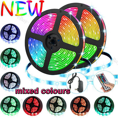 $8.95 • Buy 1/2/3/4/5/10m RGB5050 Waterproof SMD LED Strip Light+44Key Include Battery+Power