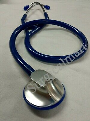 $18.99 • Buy Cardiology Single Head Professional Medical Light Weight Stethoscope Blue Color