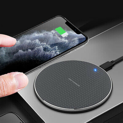 $ CDN7 • Buy Luxury Qi Fast Wireless Charger Charging Pad For IPhone 11 Pro Xs Max Xr 8 Plus