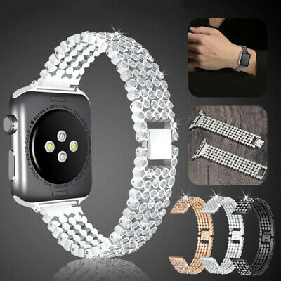 $ CDN12.33 • Buy For Apple Watch 38/40/42/44mm IWatch Series 5 4 Bling Jewelry Diamond Band Strap