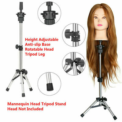 Salon Beauty Hair Training Head Hairdressing Styling Mannequin Doll Tripod Stand • 8.99£
