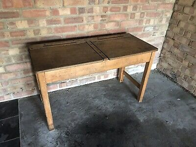 Old Vintage School Desk And 2x Chairs • 17.50£