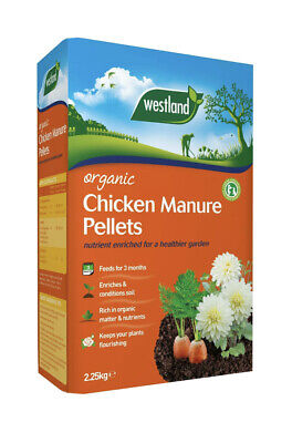Westland Organic Chicken Manure Pellets, Slow Release Rich Compost Feed - 2.25kg • 7.45£