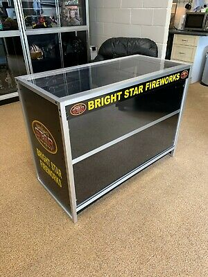 Counter Display Retail Shop Cabinet With Sliding Doors & Lock CHEAPEST ON EBAY! • 219.99£