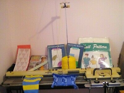 £200 • Buy Empisal Knitmaster Knitting Machine 700 With Table ,pattern Books ,wool Etc