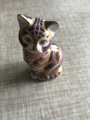 Royal Crown Derby Paperweight Cat • 12.90£