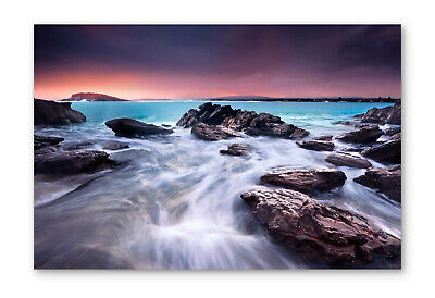 £23.99 • Buy Sunset Over Beach Seascape Box Framed Stretched Canvas Wall Art Print
