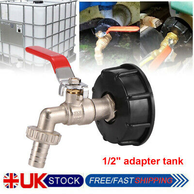 IBC Tank Adapter Outlet Fitting To Garden Tap With 1/2  Hose Fitting Fuel Water • 9.99£