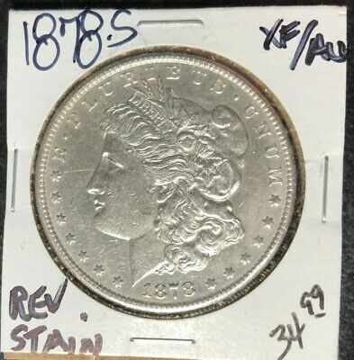 $34.99 • Buy 1878-s Morgan Silver Dollar ~ Xf/au ~ Reverse Stain ~nice Coin~