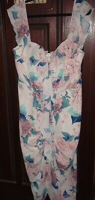 AU9.50 • Buy City Chic Polyester Floral Sleeveless Occasion Dress Plus Size M 18