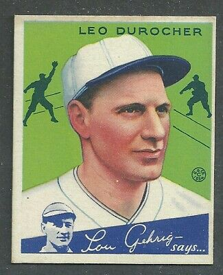 $50 • Buy 1934 Goudey Baseball Card #7 Leo Durocher (HOF)