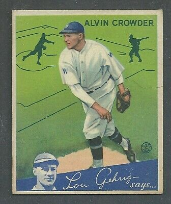 $20 • Buy 1934 Goudey Baseball Card #15 Alvin Crowder