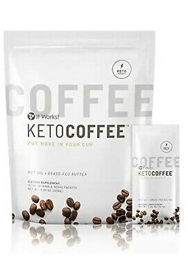 $6.50 • Buy It Works! KetoCoffee Keto Coffee 5 Single Serve Packets - New! Carb Management