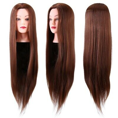 24'' Salon Hair Training Head Hairdressing Styling Mannequin Doll + Clamp • 13.69£