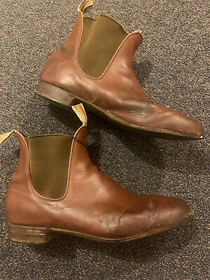 AU51 • Buy Mens Vintage Rm Williams Boots Size 12 G Wf Brown Leather Cheap Clearing Wadrobe