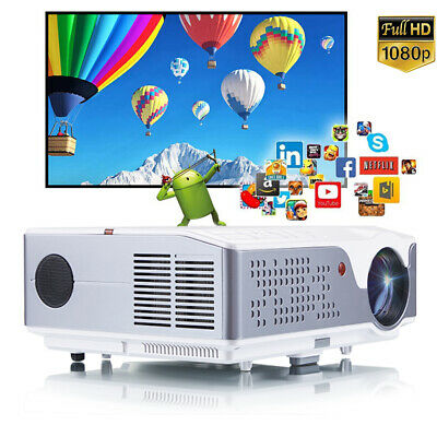 AU629 • Buy 4K LED Android Projector WiFi Bleutootn 6000Lms FULL HD Movie Video HDMI Daytime