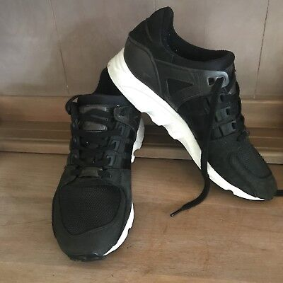 AU54.99 • Buy 💥 ADIDAS EQUIPMENT ADV/91-17 Black Leather Runners Trainers Sneakers Sz 8 7.5