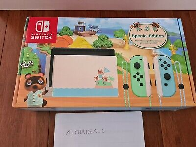 AU679 • Buy Nintendo Switch Limited Edition Animal Crossing Console