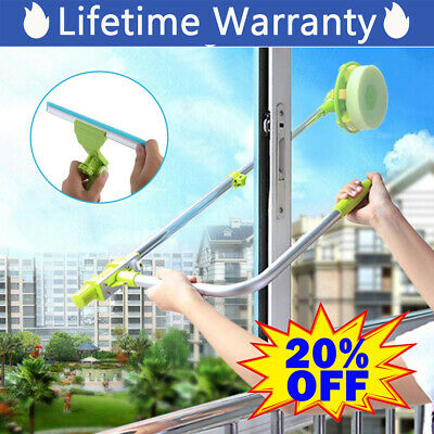 Telescopic High-rise Window Cleaning Glass Cleaner Brush For Washing Window • 18.59£
