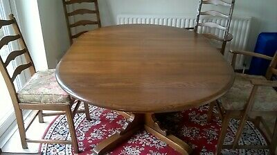 Ercol Extendable Dining Table (beech) And Four Chairs  • 50£