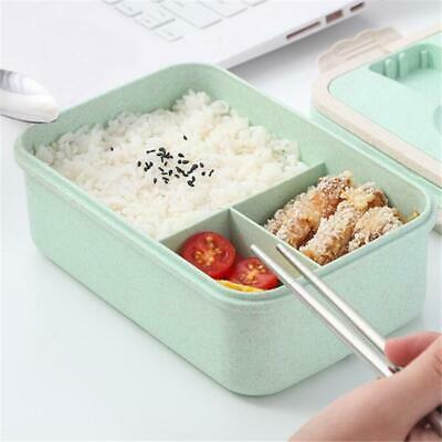 Portable Spoon Chopstick Set Plastic Bento Lunch Box Food Container Case FI • 8.42£