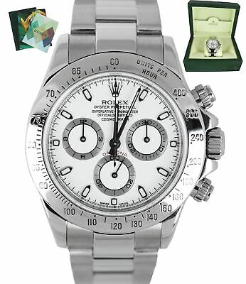 $ CDN24106.60 • Buy MINT 2006 Rolex Daytona Cosmograph Chrono 116520 White Stainless Automatic 40mm