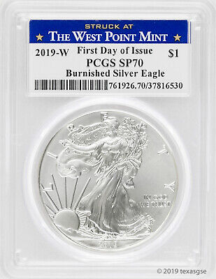 $89 • Buy 2019-W $1 Silver Eagle SP70 - First Day Of Issue - West Point Label