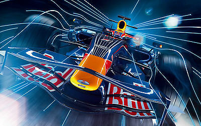 AU15 • Buy Framed Print - F1 Red Bull Race Car (Picture Poster Art Formula 1 Racing Speed)