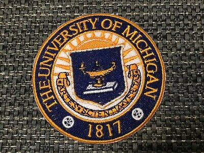 $6.99 • Buy The University Of Michigan Vintage Embroidered Iron On Patch 3  X 3""