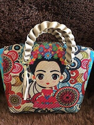 $39.99 • Buy Frida Kahlo Bag Jute Handbag 100% Mexican Art