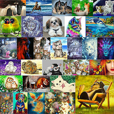 $ CDN8.21 • Buy 5D DIY Drill Square Diamond Painting Colorful Cross Stitch Kit Embroidery Art