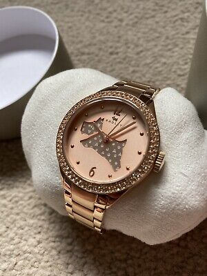 $63.31 • Buy RADLEY RY4190 THE GREAT OUTDOORS LADIES ROSE GOLD PLATED BRACELET WATCH - New