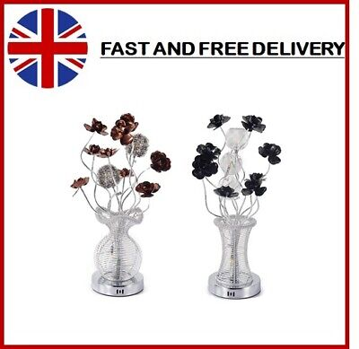 LED Flower Vase Aluminium Wired Large Table Desk Floor Lamp Modern • 40.67£