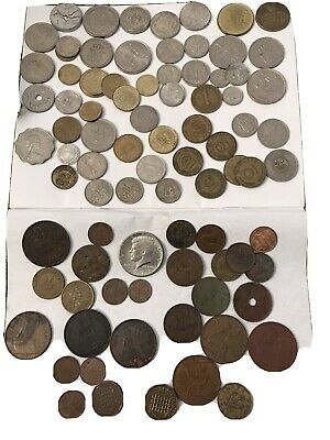 Job Lot Collection Of Old UK & Foreign Coins Some Individual Coins Of Value • 4.95£