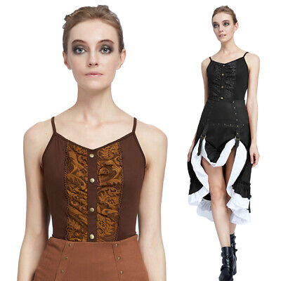 AU16.28 • Buy Decorated Tops Ladies Slim Beauty Clothing & Accessories Sexy Steampunk