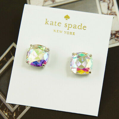 $ CDN39.62 • Buy Nwt Kate Spade Cushion Square Stud Earrings $38 Ab Aurora Silver Tone